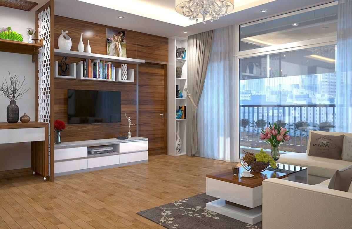Phòng khách chung cư được thiết kế nhẹ nhàng, hiện đại
