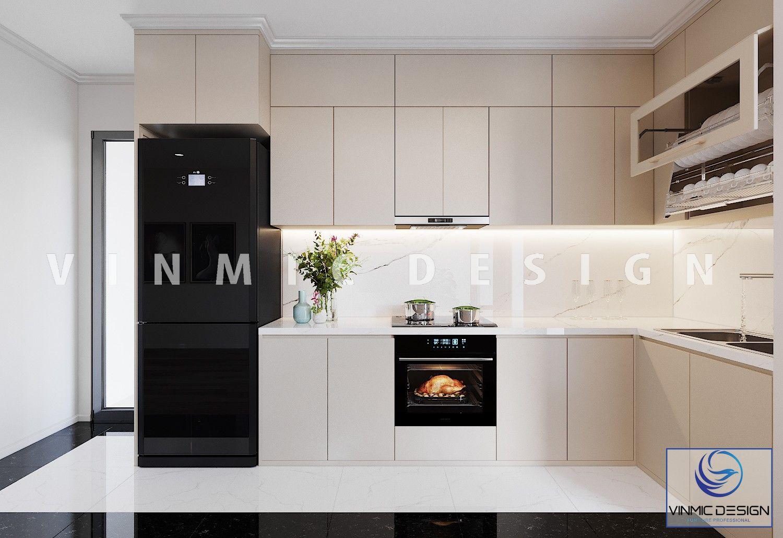 Phòng bếp nhỏ nhắn tận dụng hết diện tích