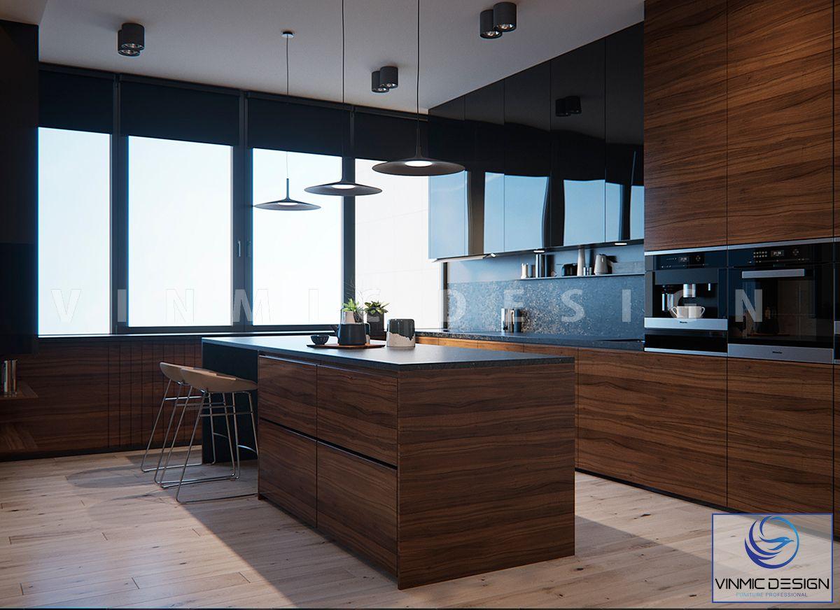 Thiết kế tủ bếp với bề mặt Melamine