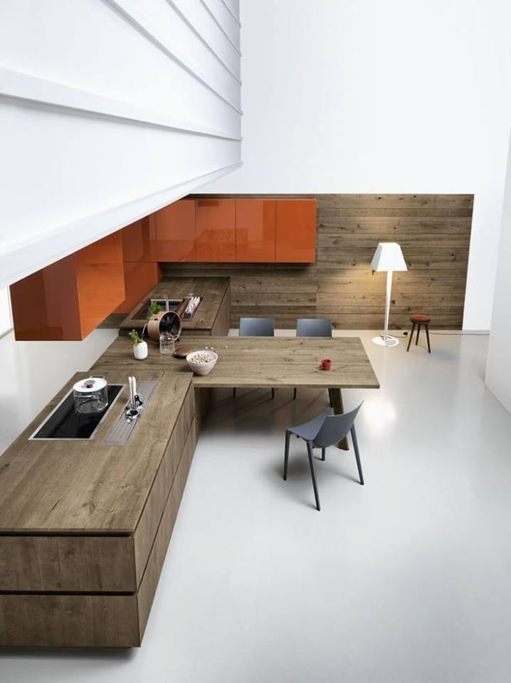 Thiết kế tủ bếp hiện đại dạng hình khối