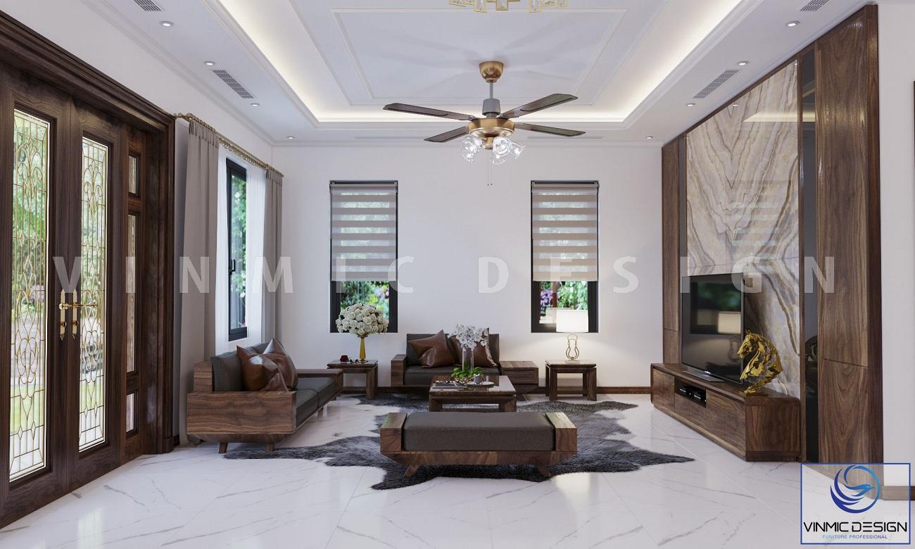 Không gian hiện đại đơn giản của phòng khách