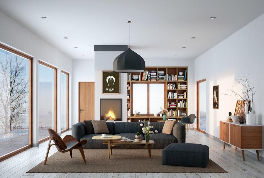 Một góc phòng khách mang phong cách hiện đại