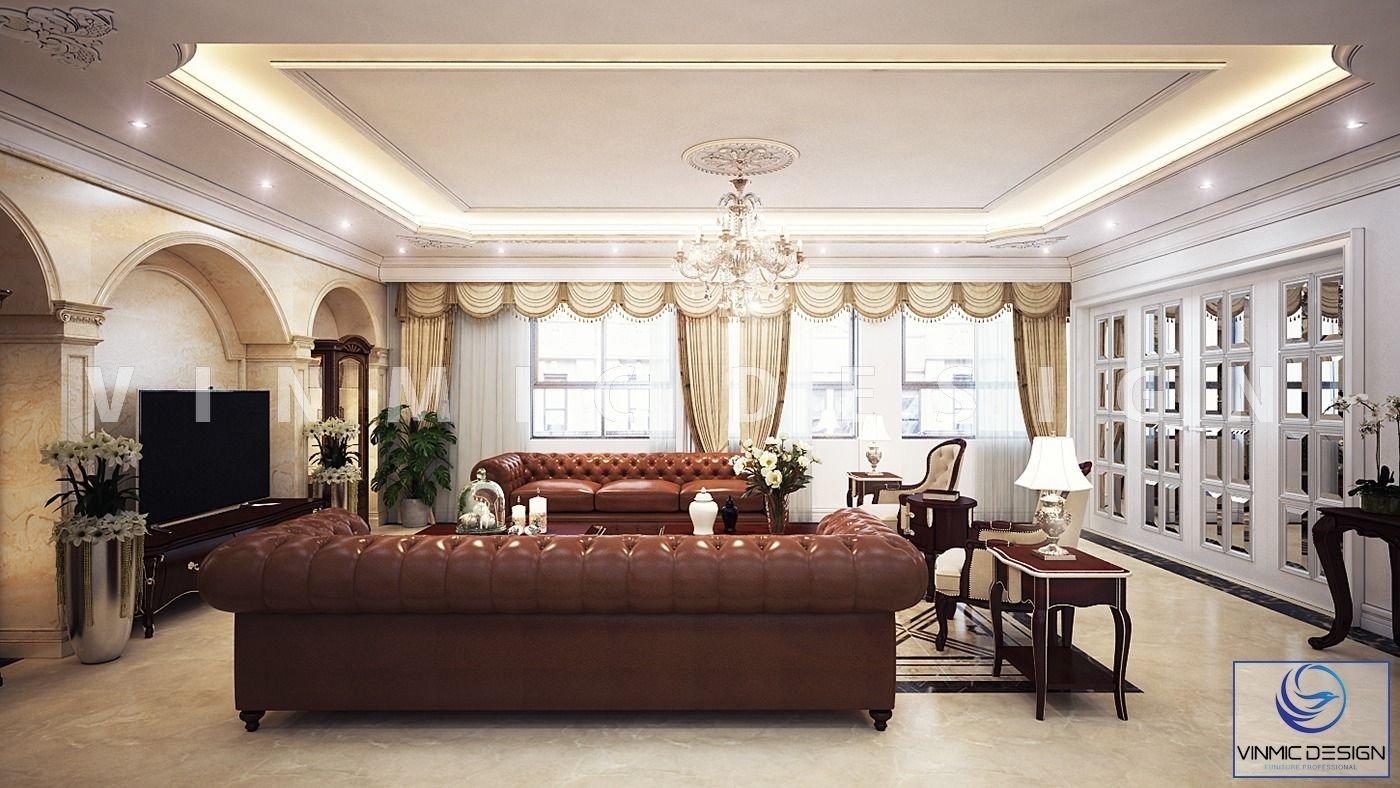 Phòng khách với điểm nhân là bộ sofa