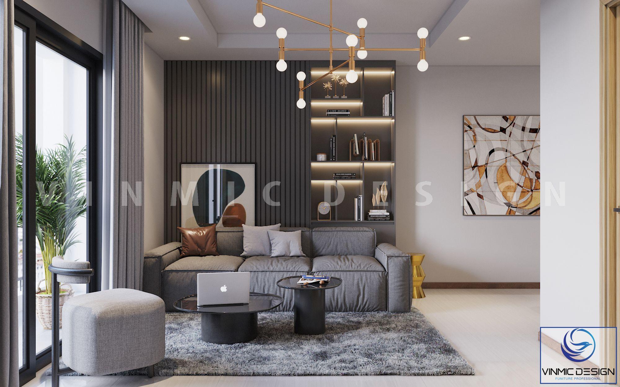 Không gian phòng khách được thiết kế đơn giản