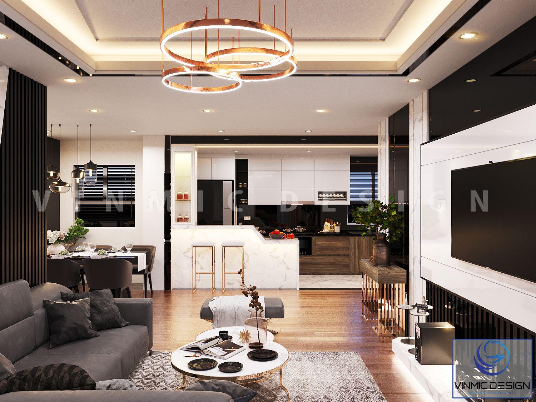 Một góc phòng khách chung cư riêng tư