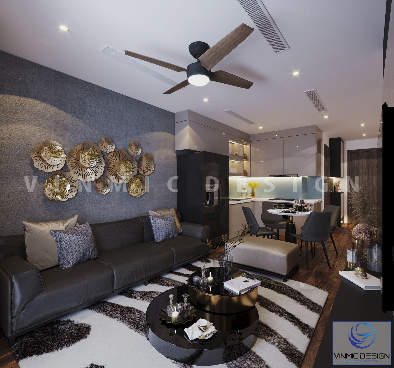 Thiết kế nội thất phòng khách với những đồ trang trí lạ mắt