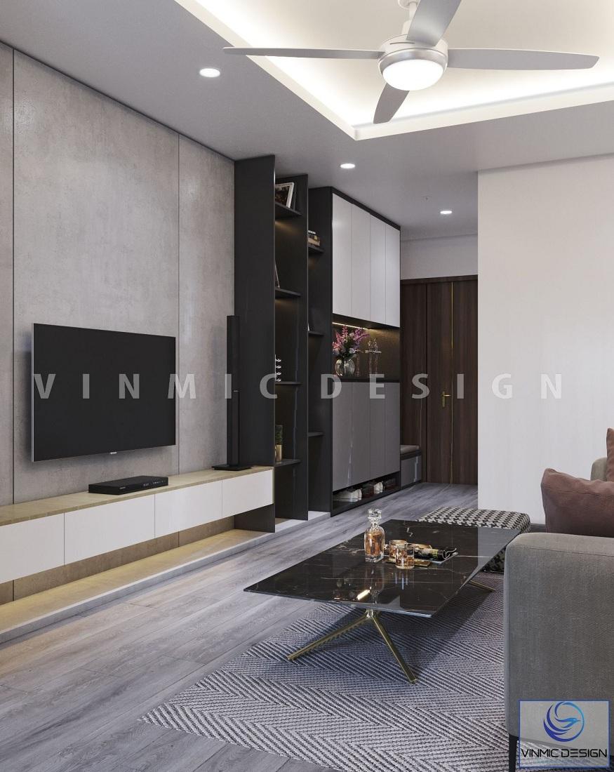 Thiết kế nội thất phòng khách chung cư với diện tích khiêm tốn
