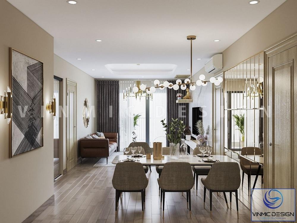 Thiết kế nội thất phòng khách chung cư hiện đẹp mắt