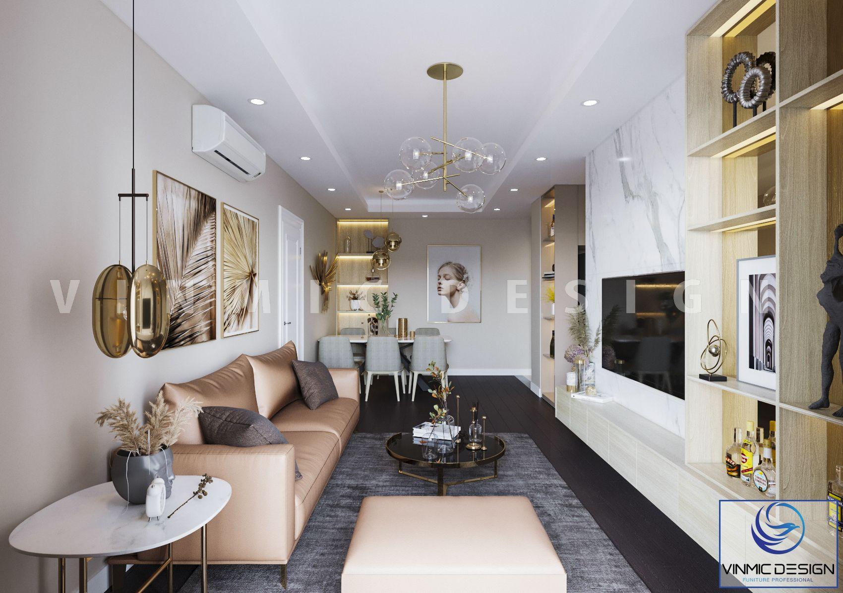 Không gian phòng khách hoàn mỹ với nhiều màu sắc