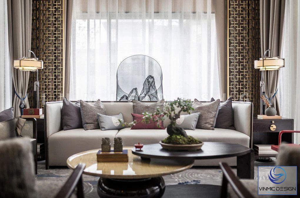 Bộ sofa bằng nỉ tạo ấn tượng cho phòng khách