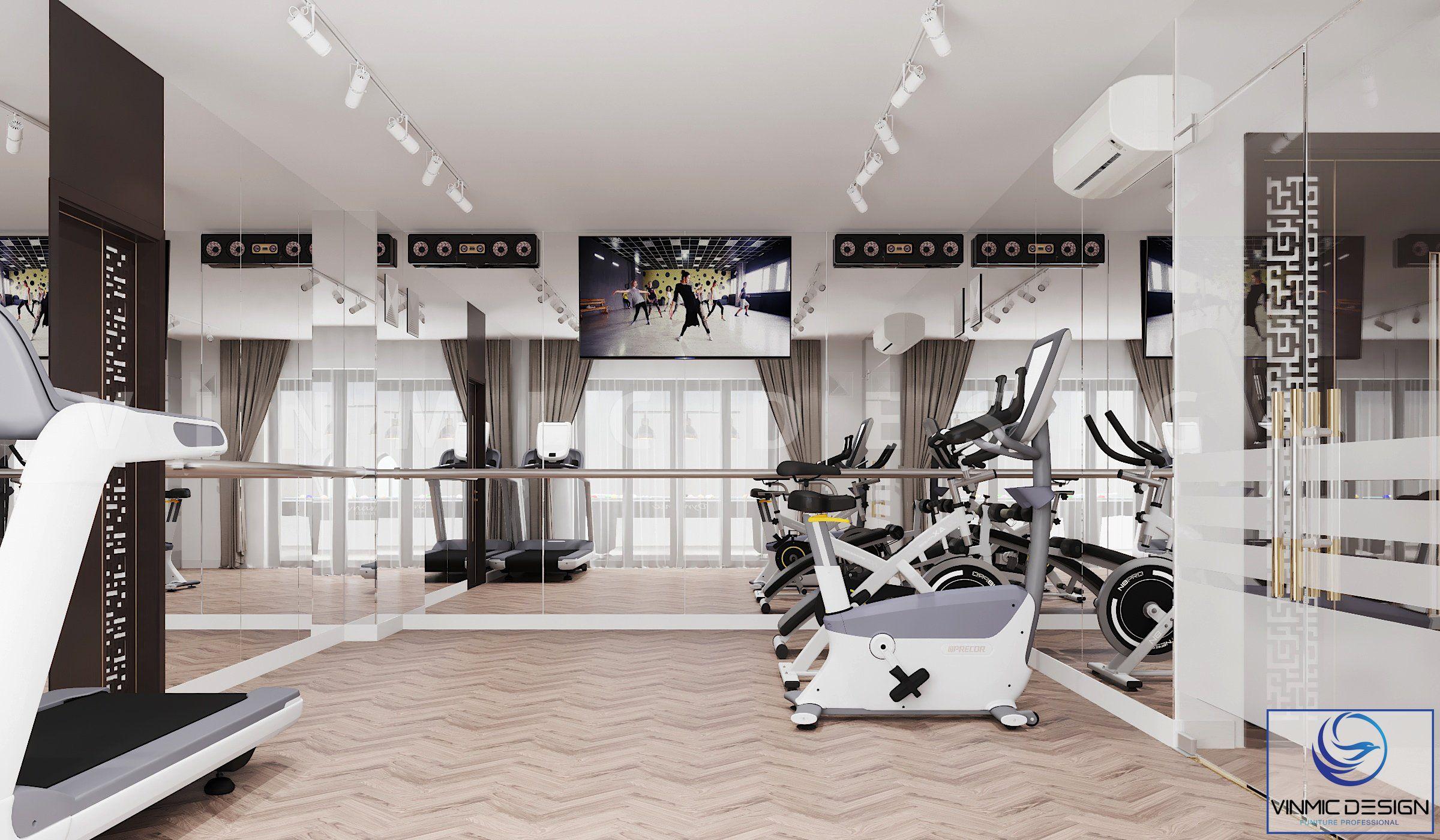 Thiết kế phòng tập gym tiện lợi tại biệt thự Vinhomes Imperia Hải Phòng