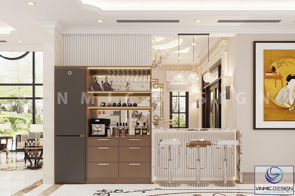 Thiết kế nội thất quầy bar sang trọng tại biệt thự Imperia Hải Phòng