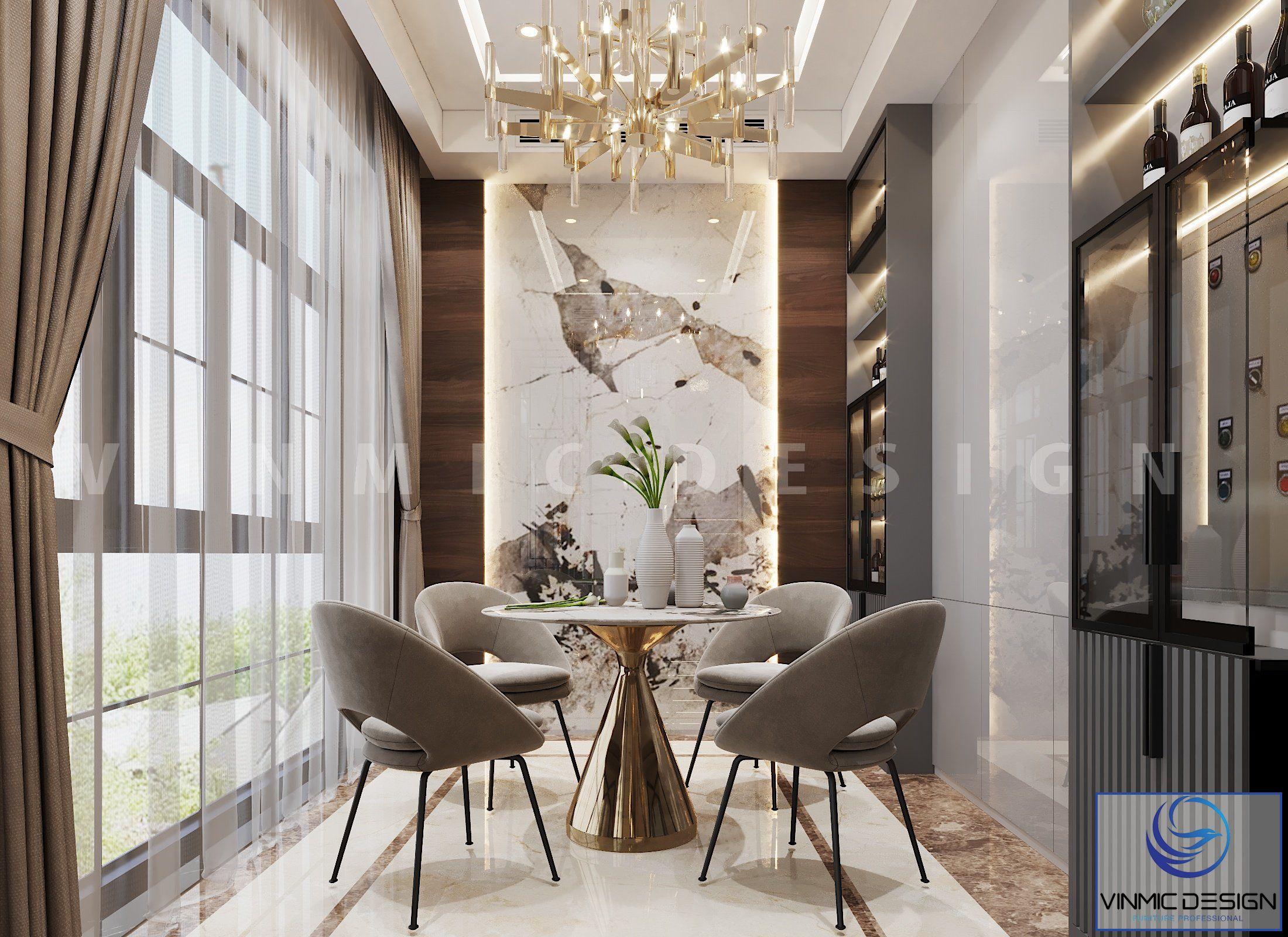 Góc khác, thiết kế nội thất không gian sinh hoạt chung đẹp cho biệt thự Vinhomes Imperia Hải Phòng