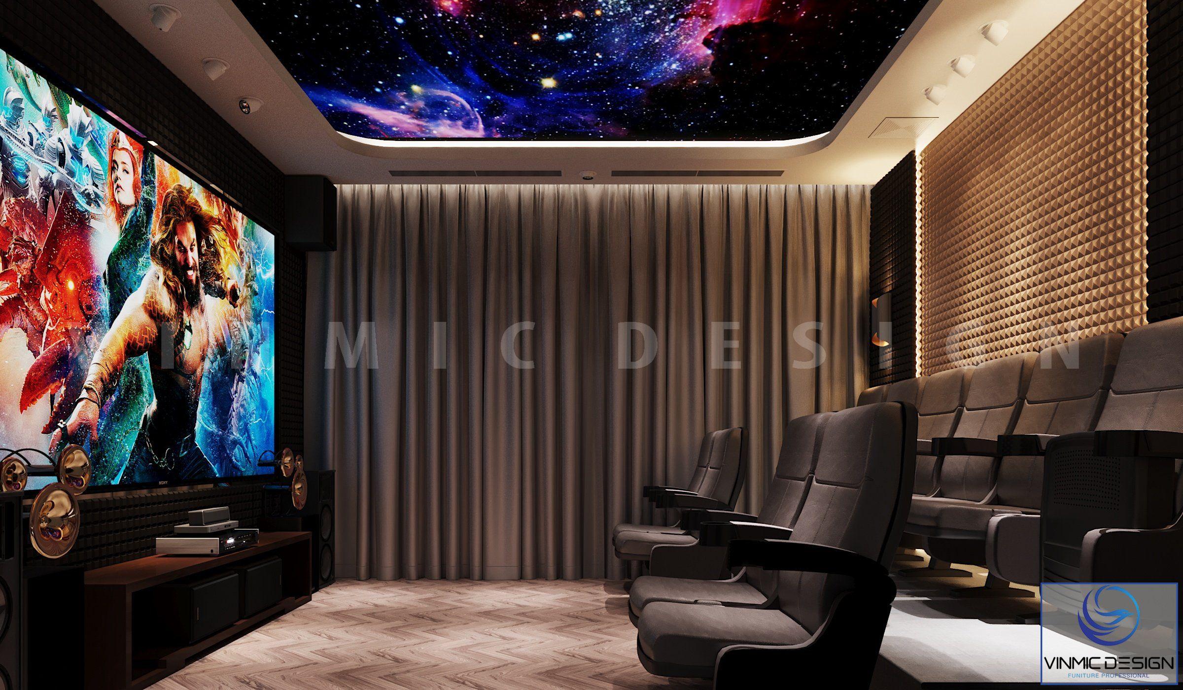 Thiết kế biệt thự đẹp có phòng chiếu phim tại nhà của căn biệt thự Vinhomes Imperia Hải Phòng
