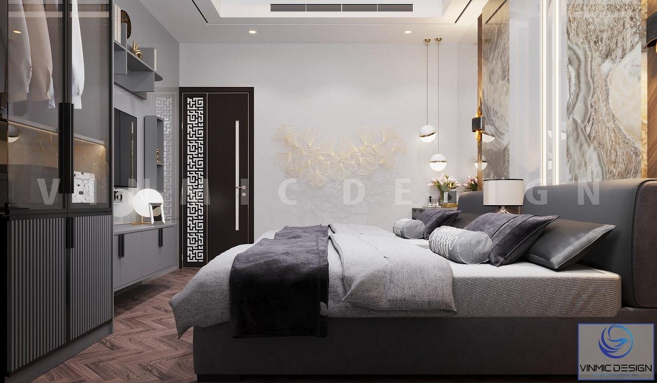 Góc khác phòng ngủ đẹp tại biệt thự Vinhomes Imperia Hải Phòng