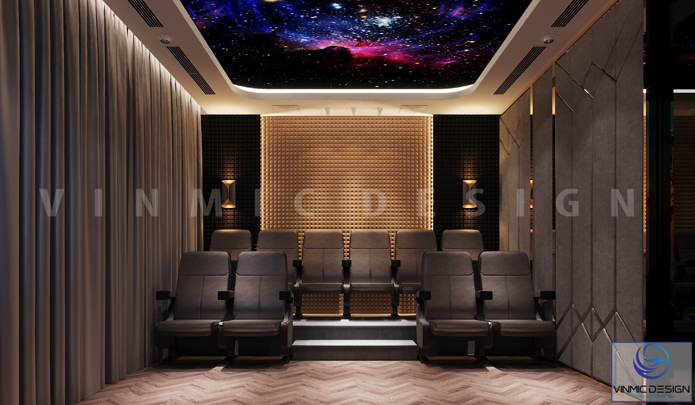 Nội thất Vinhomes Imperia Hải Phòng với phòng chiếu phim có đồ nội thất sang trọng
