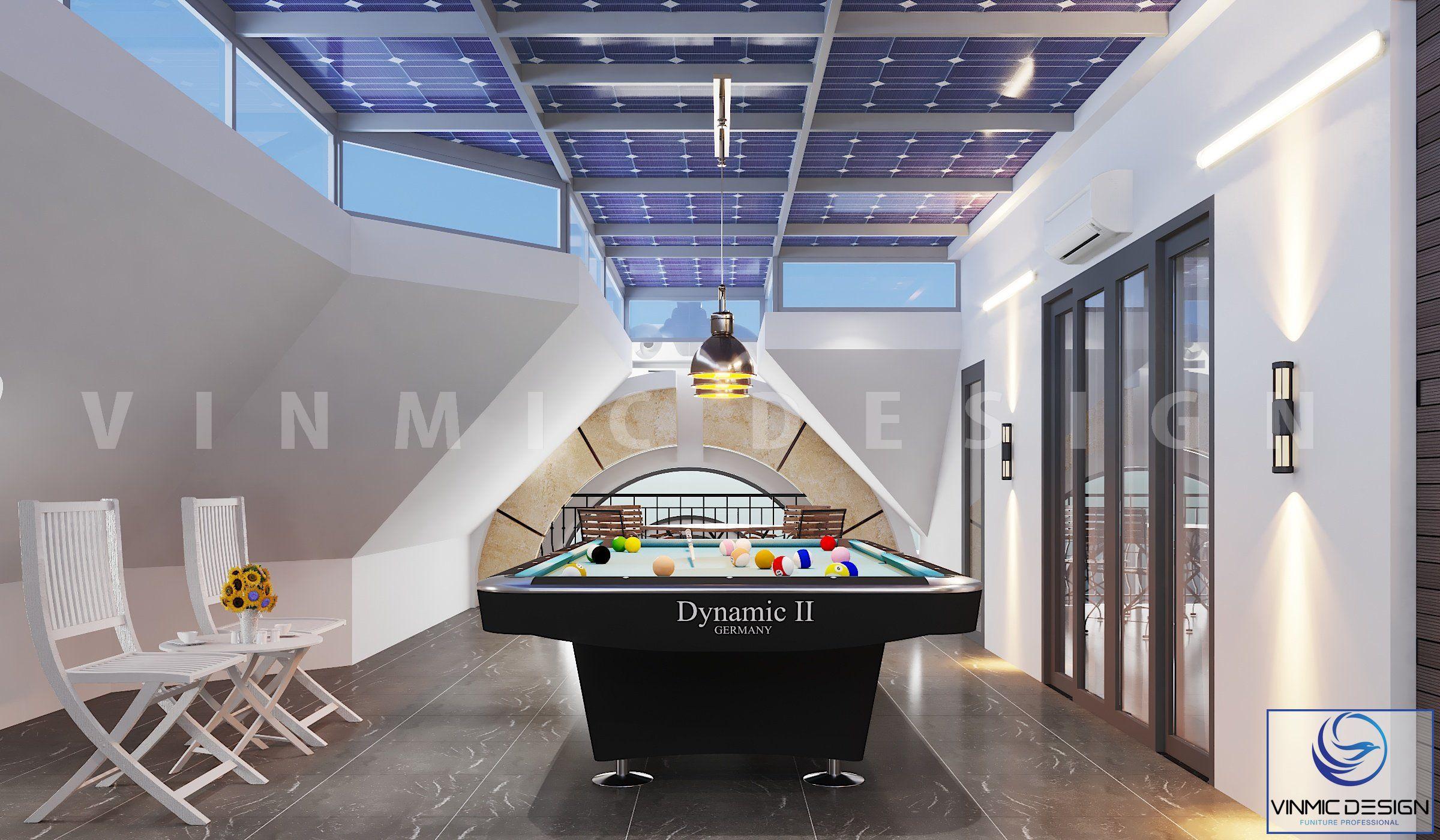 Thiết kế phòng chơi bida đẹp tại biệt thự Vinhomes Imperia Hải Phòng