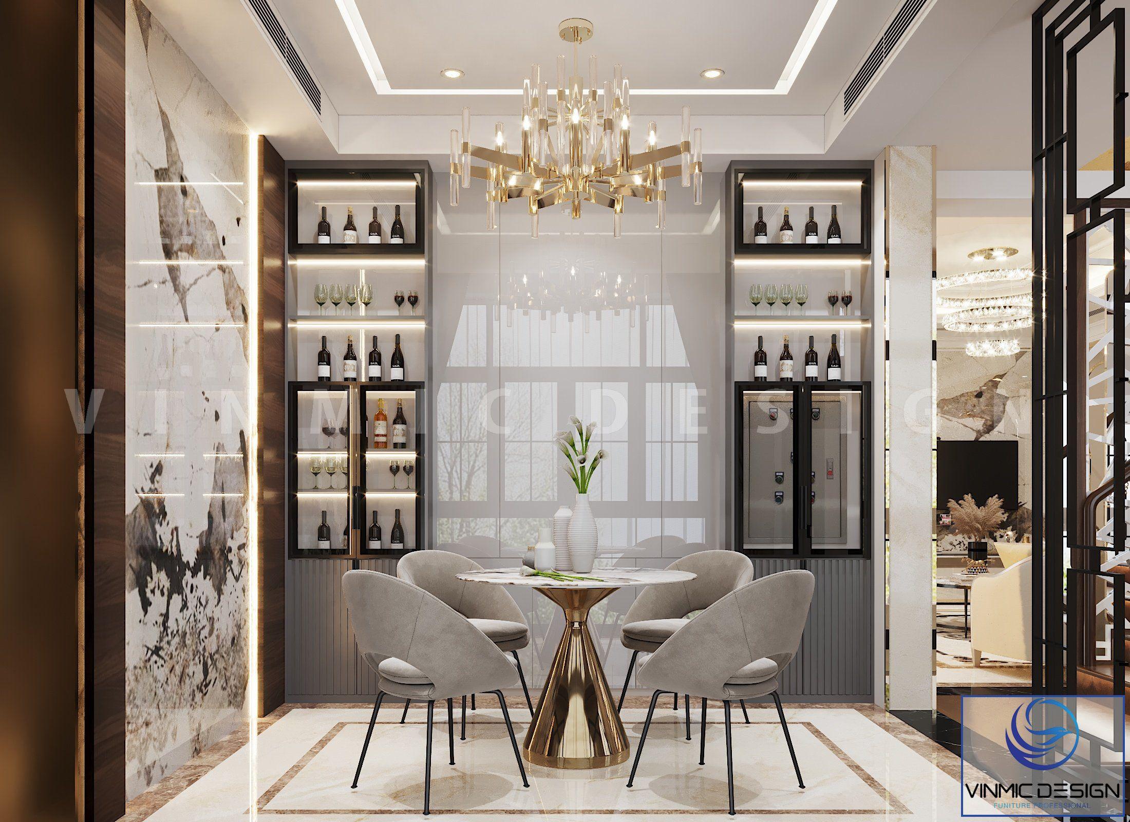 Thiết kế không gian sinh hoạt chung tiện nghi tại tầng 2 căn biệt thự Vinhomes Imperia Hải Phòng