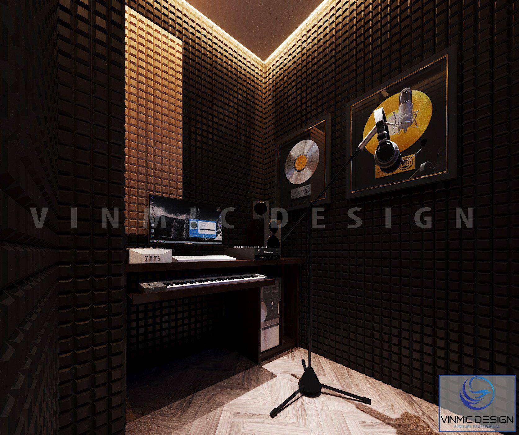 Thiết kế phòng thu âm có tường cách âm sang trọng tại biệt thự Vinhomes Imperia Hải Phòng