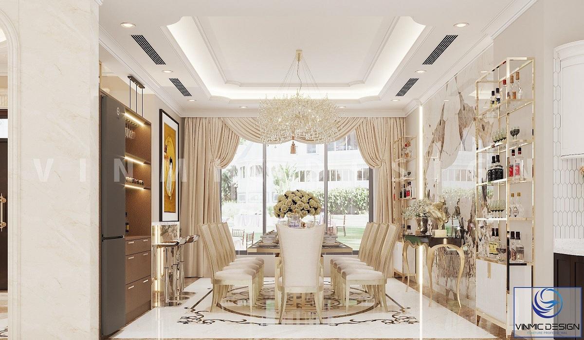 Thiết kế nội thất không gian sinh hoạt đẹp tại biệt thự Vinhomes Imperia Hải Phòng