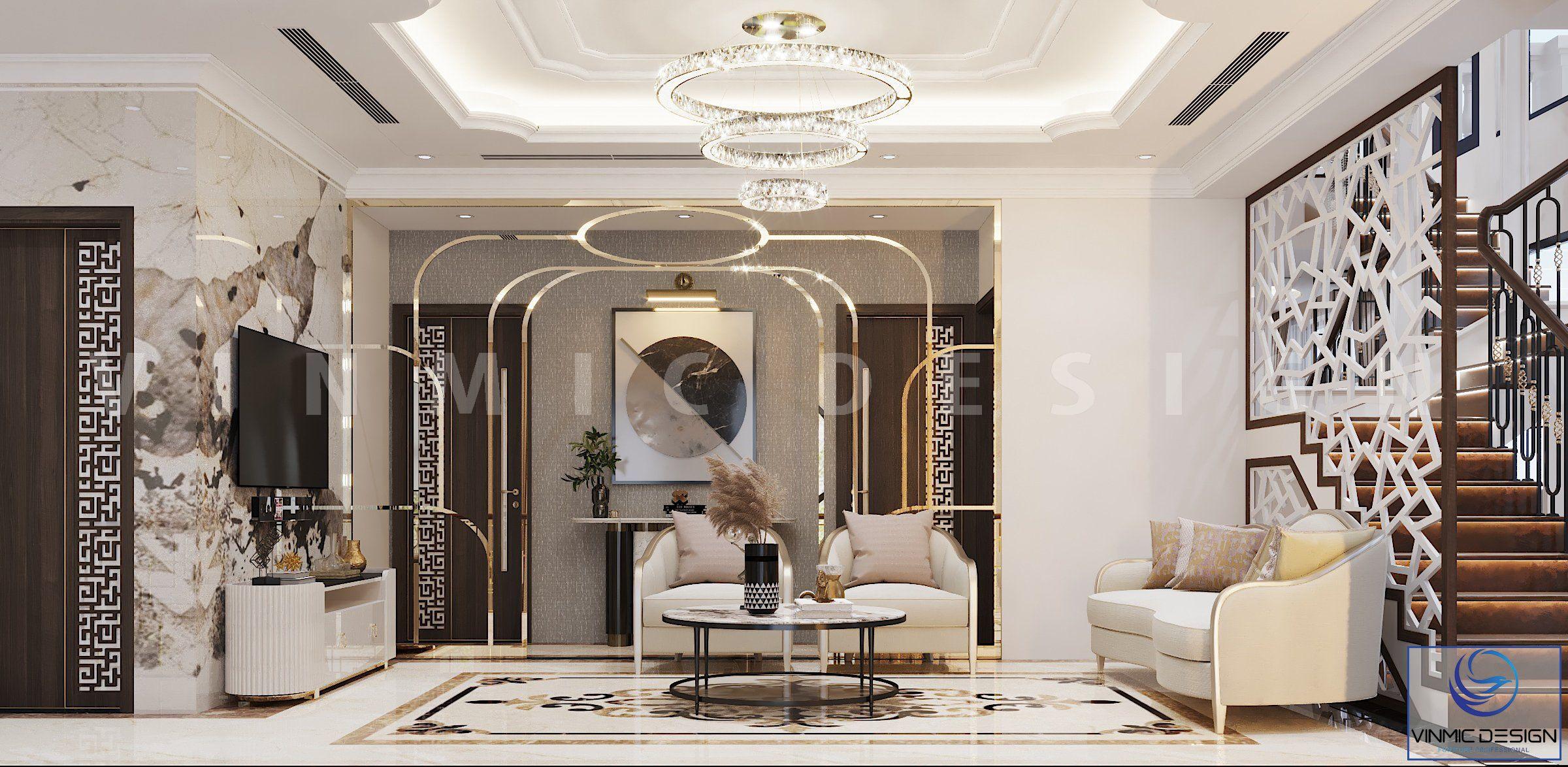 Phòng chờ tầng 2 biệt thự Vinhomes Imperia Hải Phòng