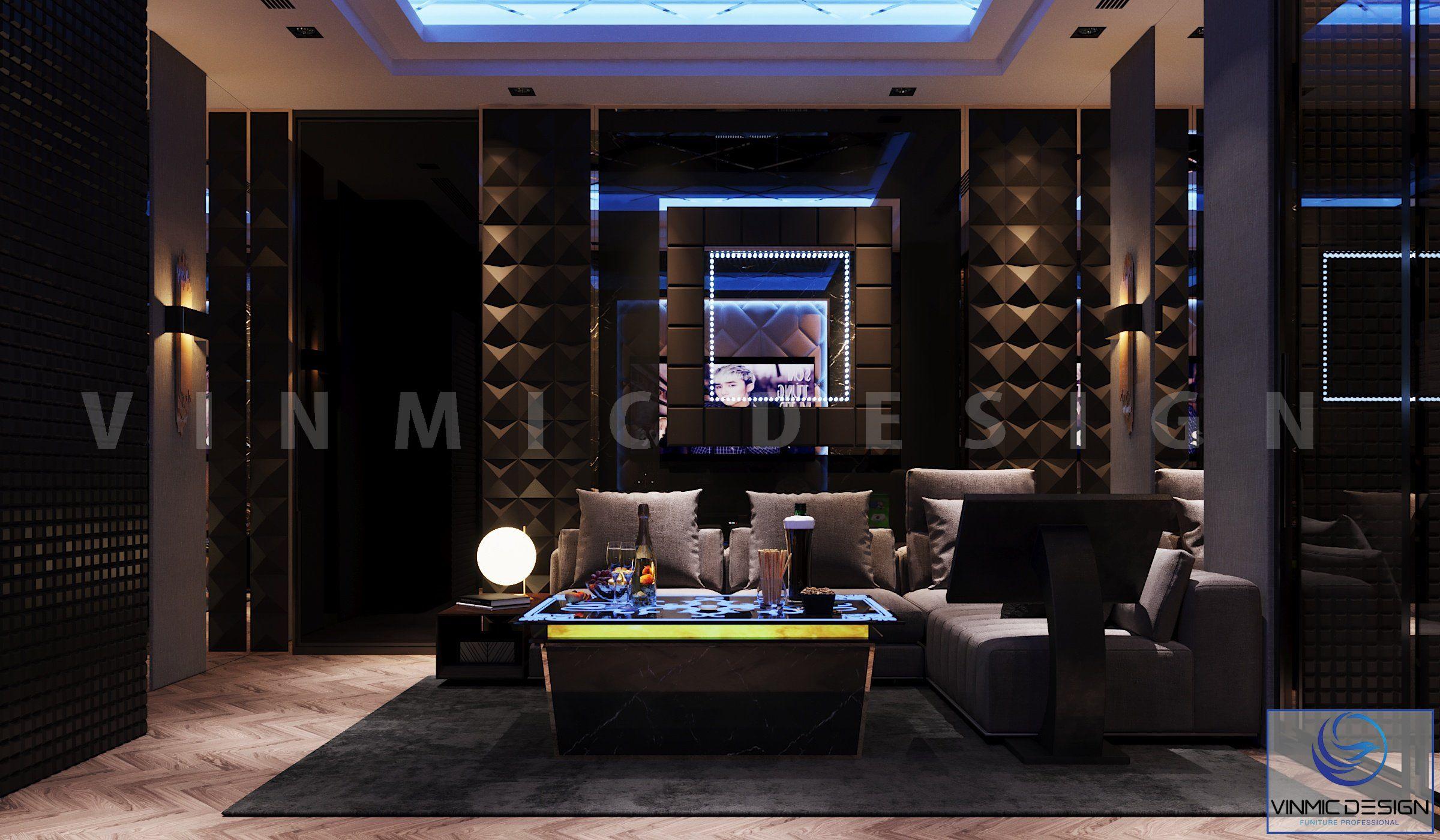 thiết kế biệt thự đẹp với phòng hát karaoke ấn tượng tại Vinhomes Imperia Hải Phòng