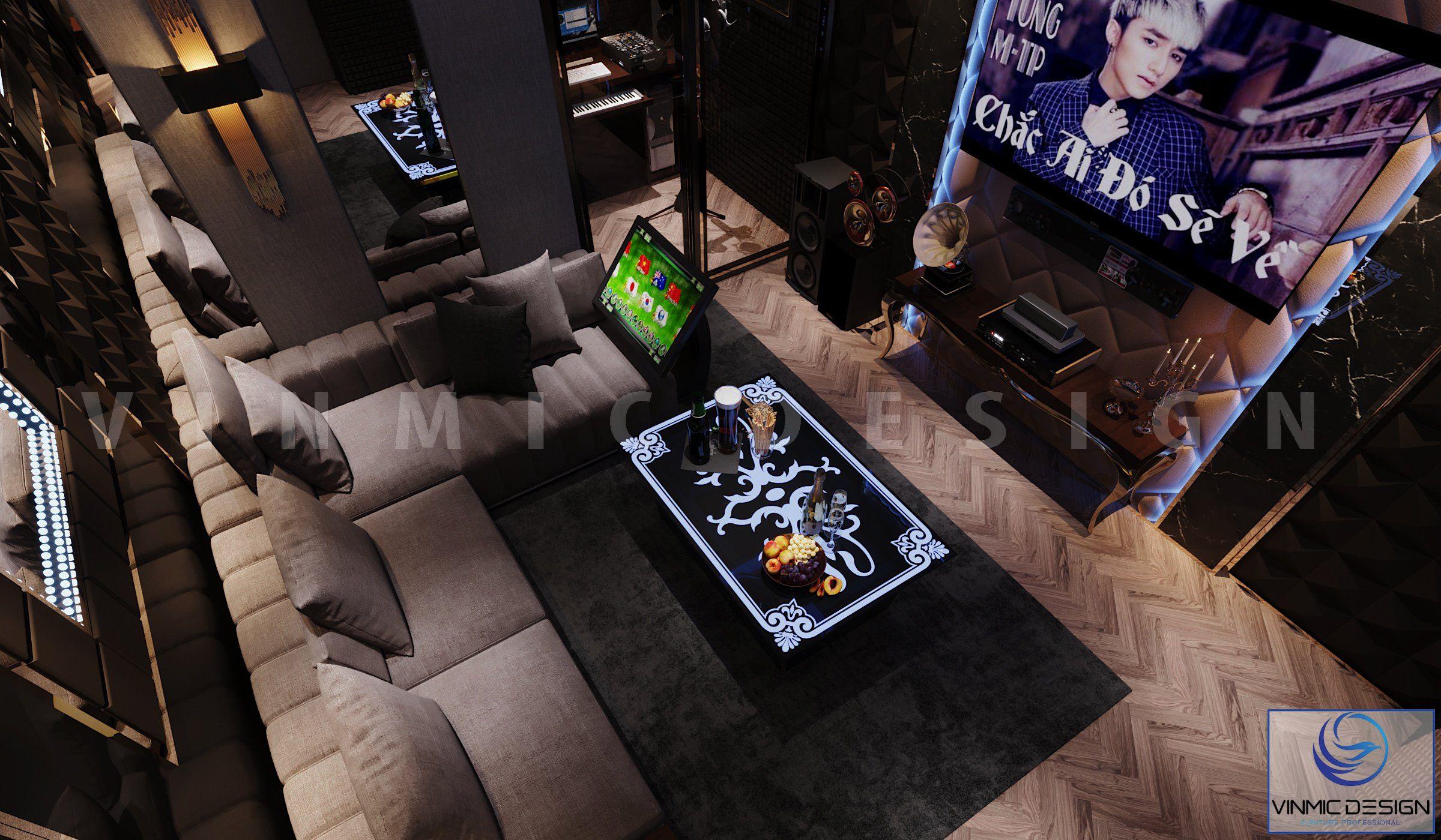 Không gian phòng karaoke với công năng tối ưu và vẫn đảm bảo sự thông thoáng tại biệt thự Vinhomes Imperia Hải Phòng