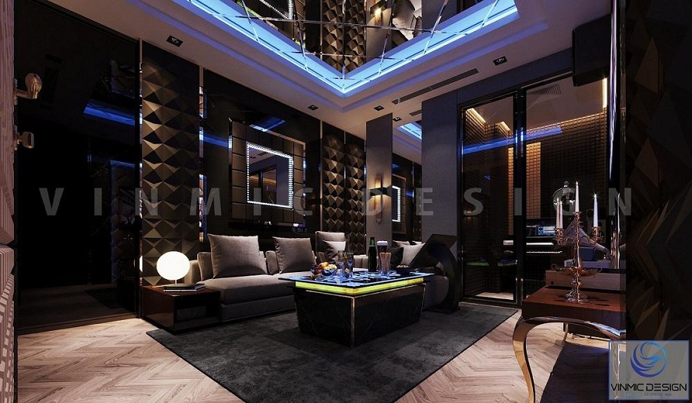 Thiết kế nội thất biệt thự Vinhomes Imperia Hải Phòng có phòng hát karaoke sang trọng
