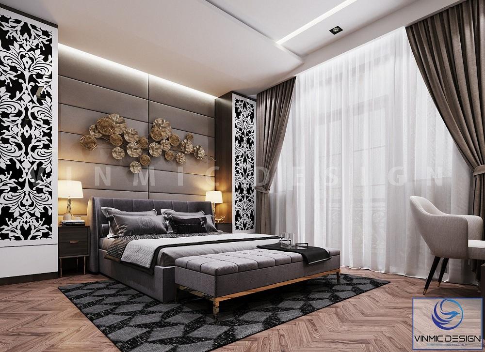 Thiết kế phòng ngủ đẹp tại biệt thự Vinhomes Imperia Hải Phòng