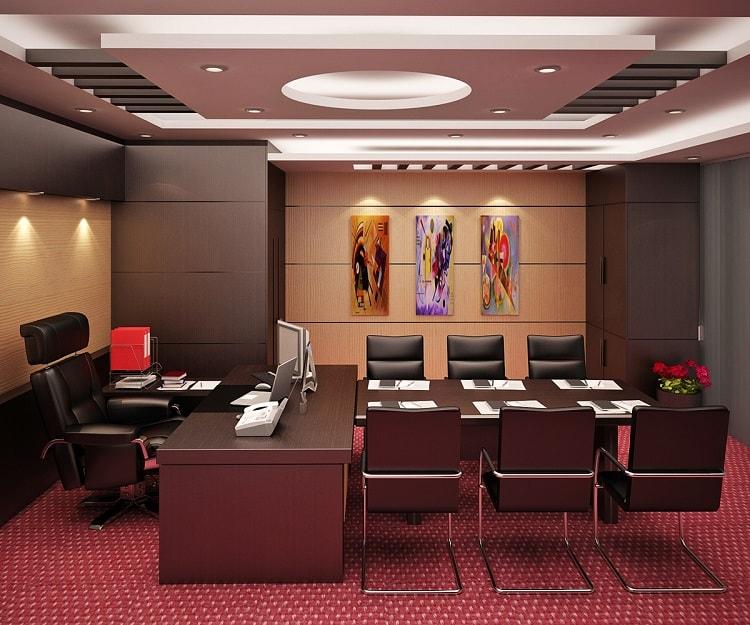 Thiết kế phòng giám đốc hiện đại, kết hợp phòng họp rộng rãi