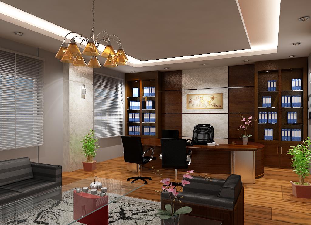 Thiết kế phòng giám đốc diện tích rộng được sắp xếp hợp lý