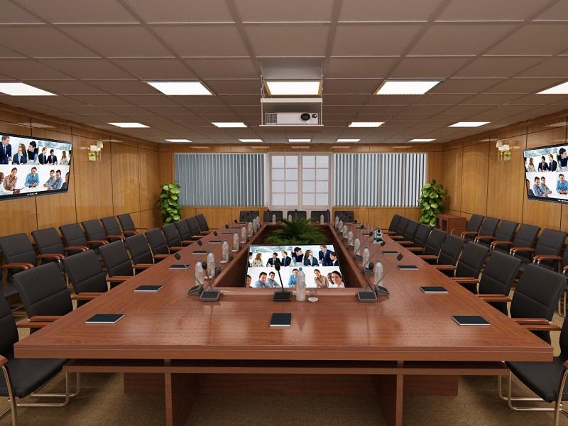 Thiết kế phòng họp diện tích rộng và tiện lợi
