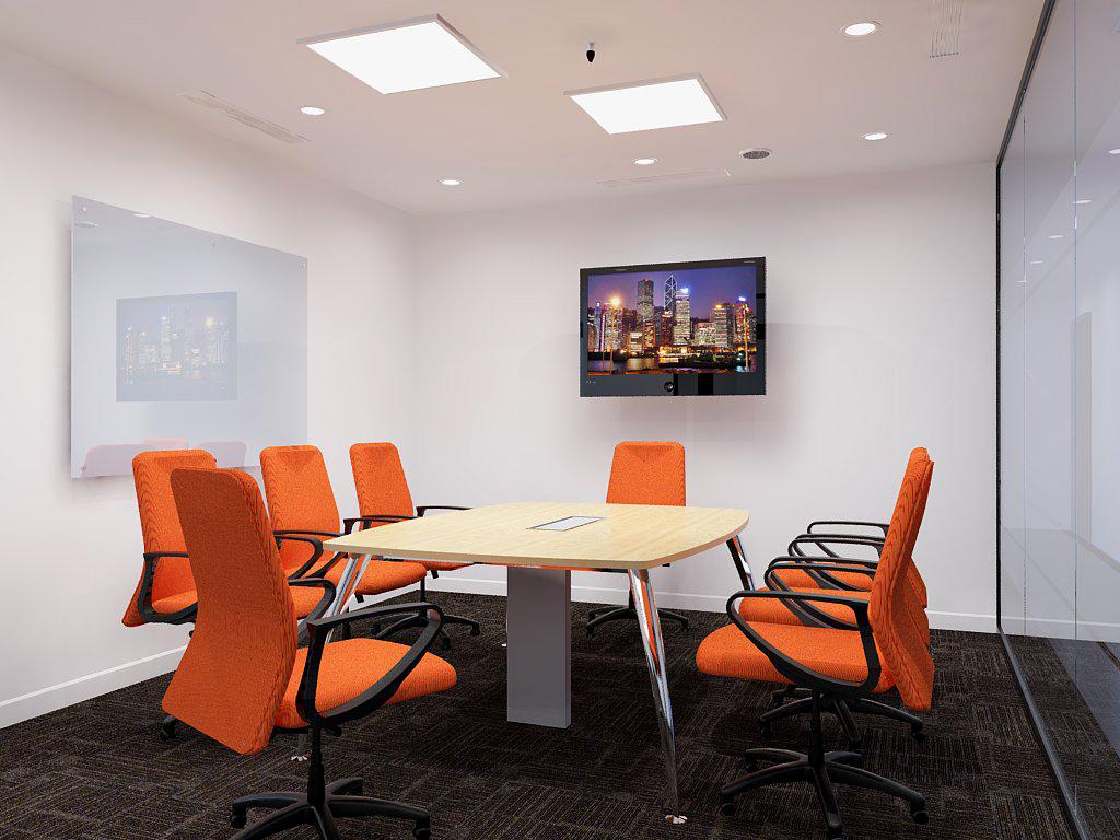 Phòng họp nhỏ với màu sắc hiện đại
