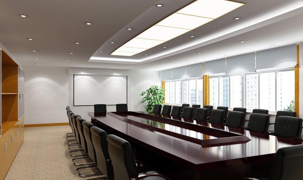 Không gian phòng họp tận dụng ánh sáng tự nhiên và bộ bàn ghế đẳng cấp