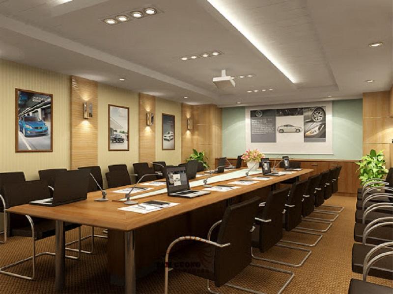 Màu sắc của phòng họp làm tôn lên sức sáng tạo làm việc