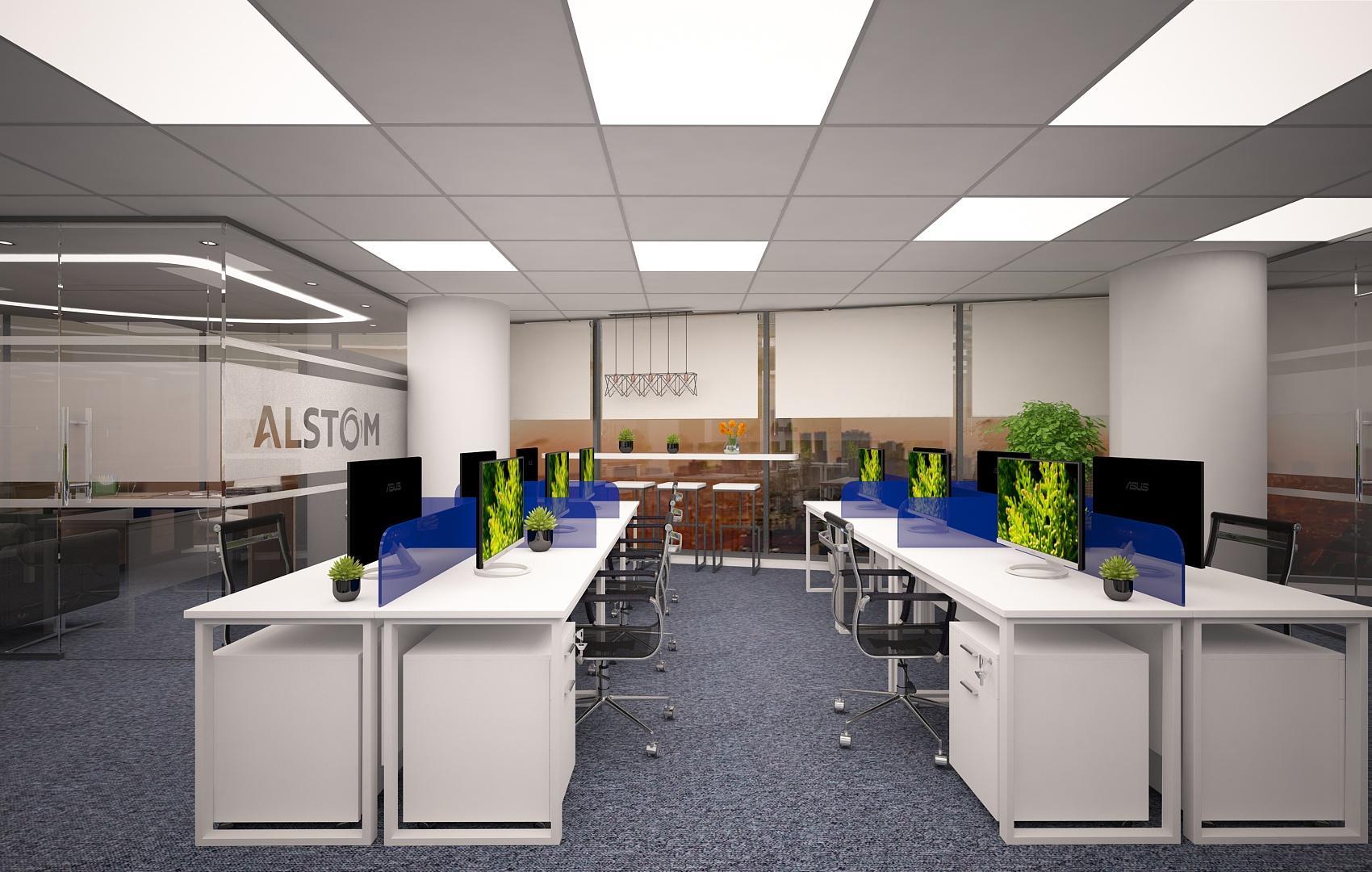 Thiết kế văn phòng diện tích rộng rãi