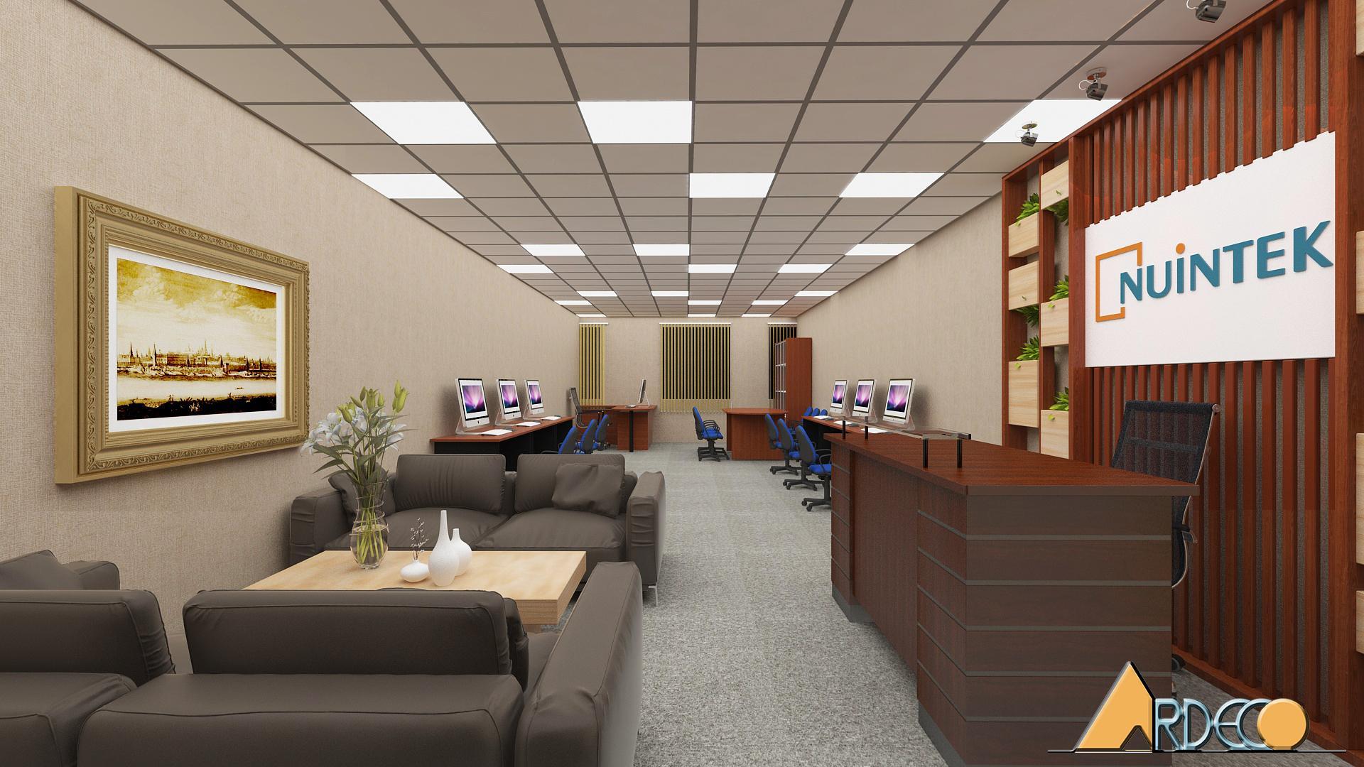 Thiết kế phòng giám đốc kết hợp với không gian làm việc nhân viên