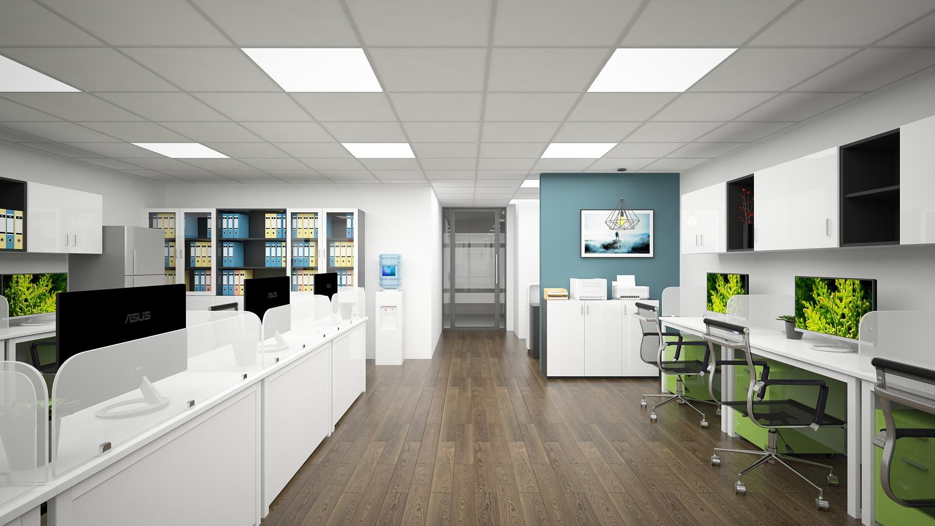 Cách sắp xếp, bố trí nội thất văn phòng gọn gàng với diện tích lớn