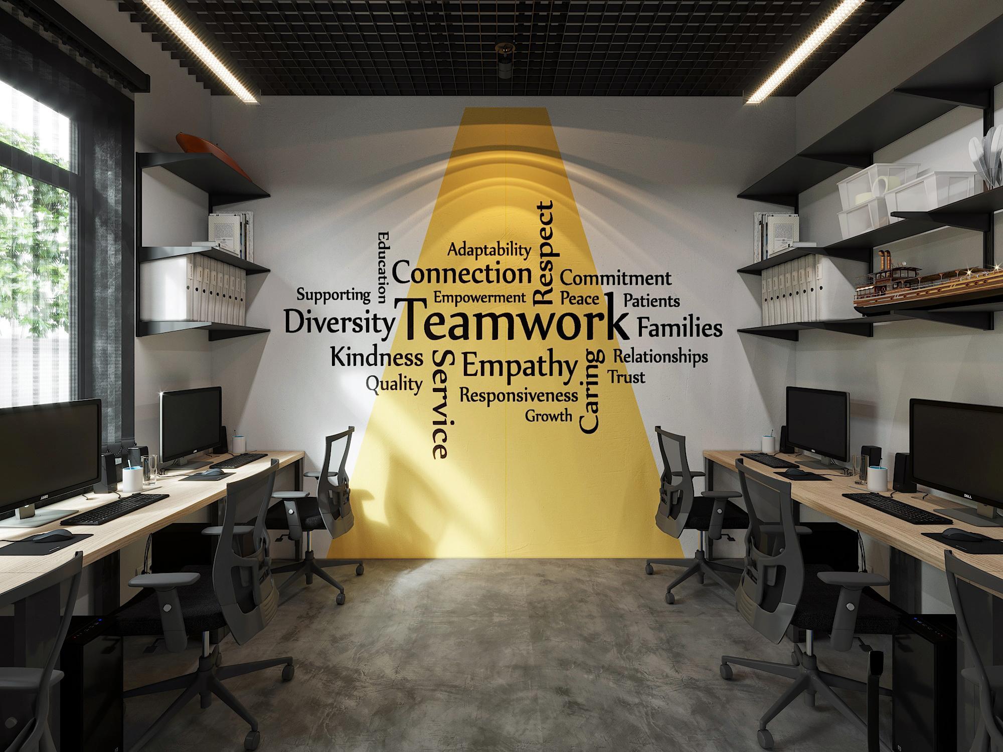 Một không gian mở cho nhân viên đoàn kết làm việc