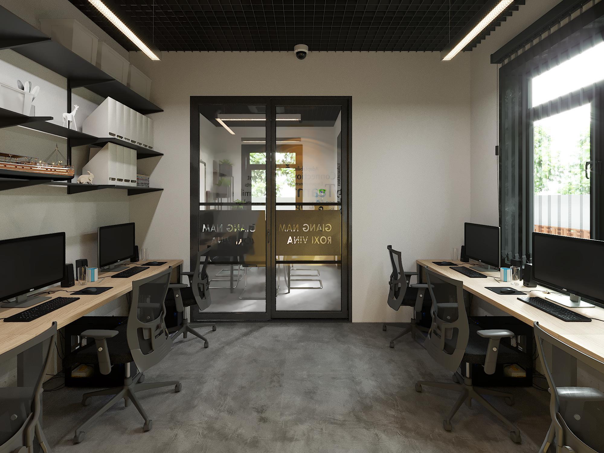 Thiết kế văn phòng được chia ra các phòng nhỏ tiện ích