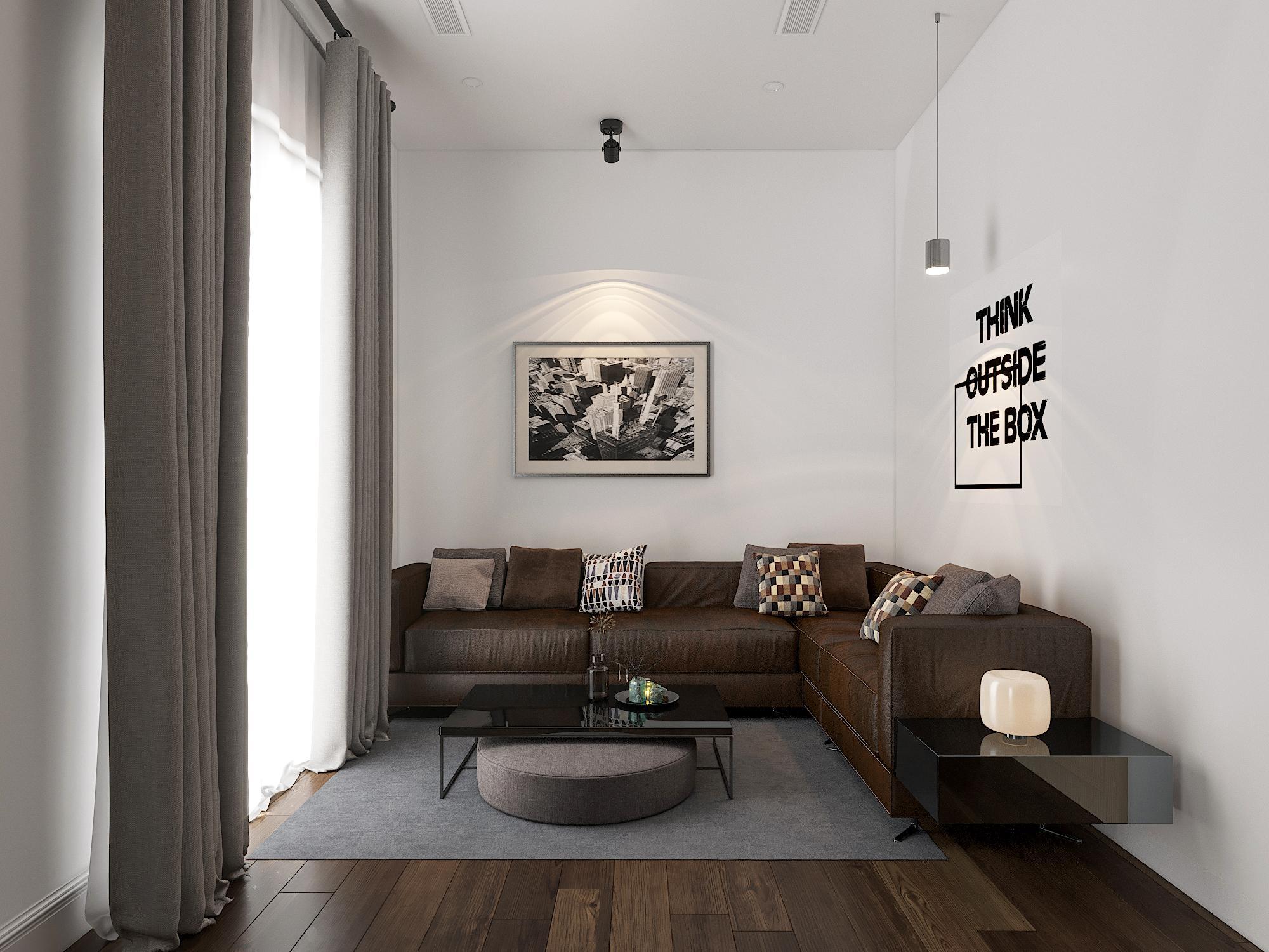 Phòng chờ cho văn phòng với bộ sofa nổi bật