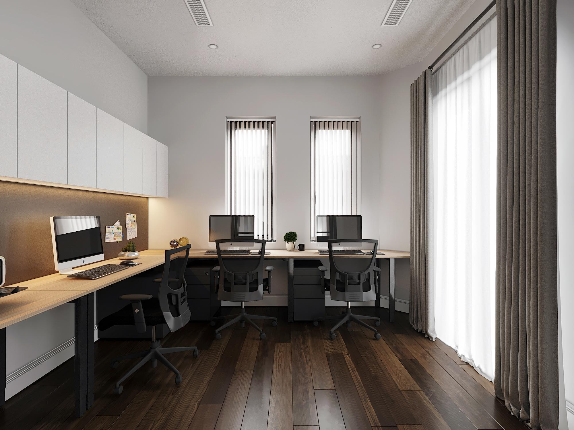 Một góc nhỏ văn phòng làm việc nhân viên