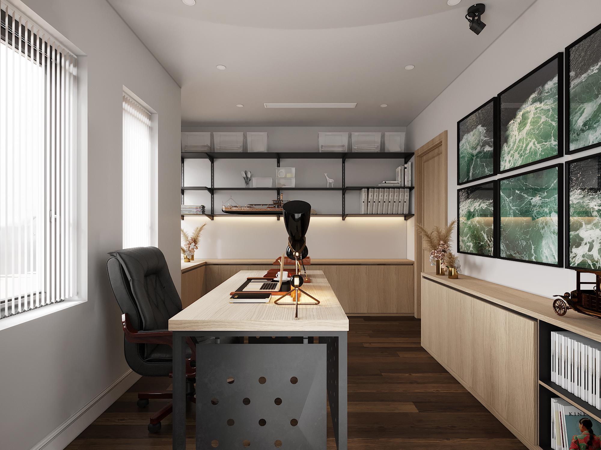 Thiết kế nội thất văn phòng cho lãnh đạo