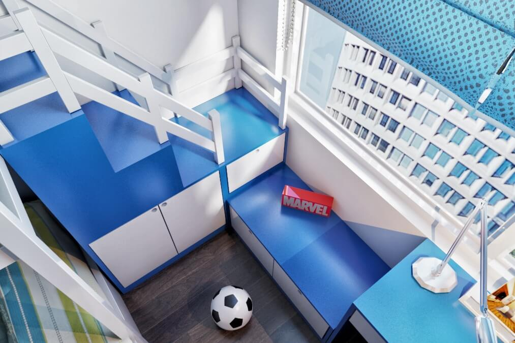 Thiết kế giường tầng sẽ tiết kiệm được diện tích