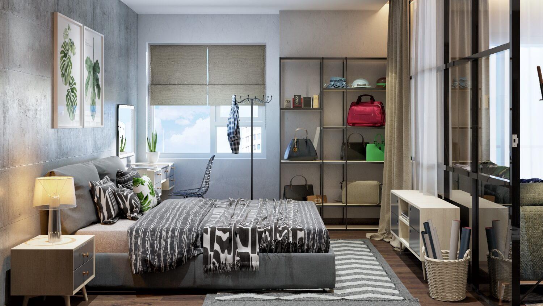 Thiết kế phòng ngủ Master với đầy đủ công năng