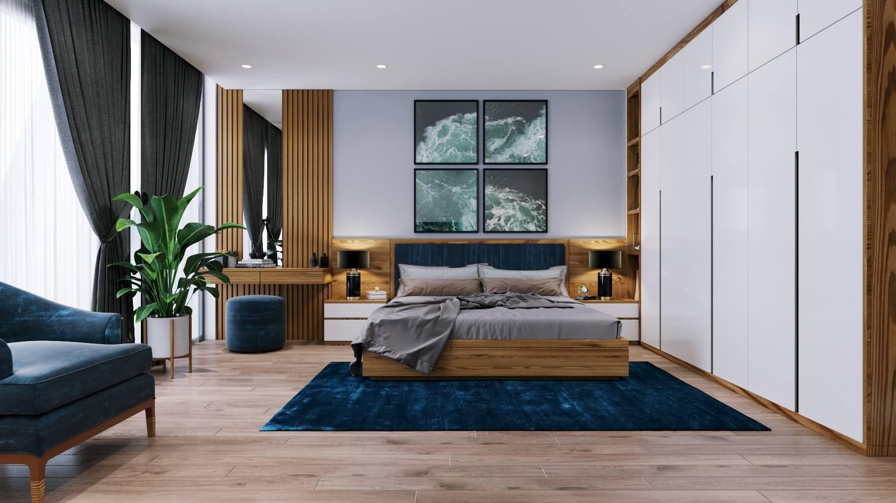 Thiết kế phòng ngủ master tận dụng ánh sáng thiên nhiên