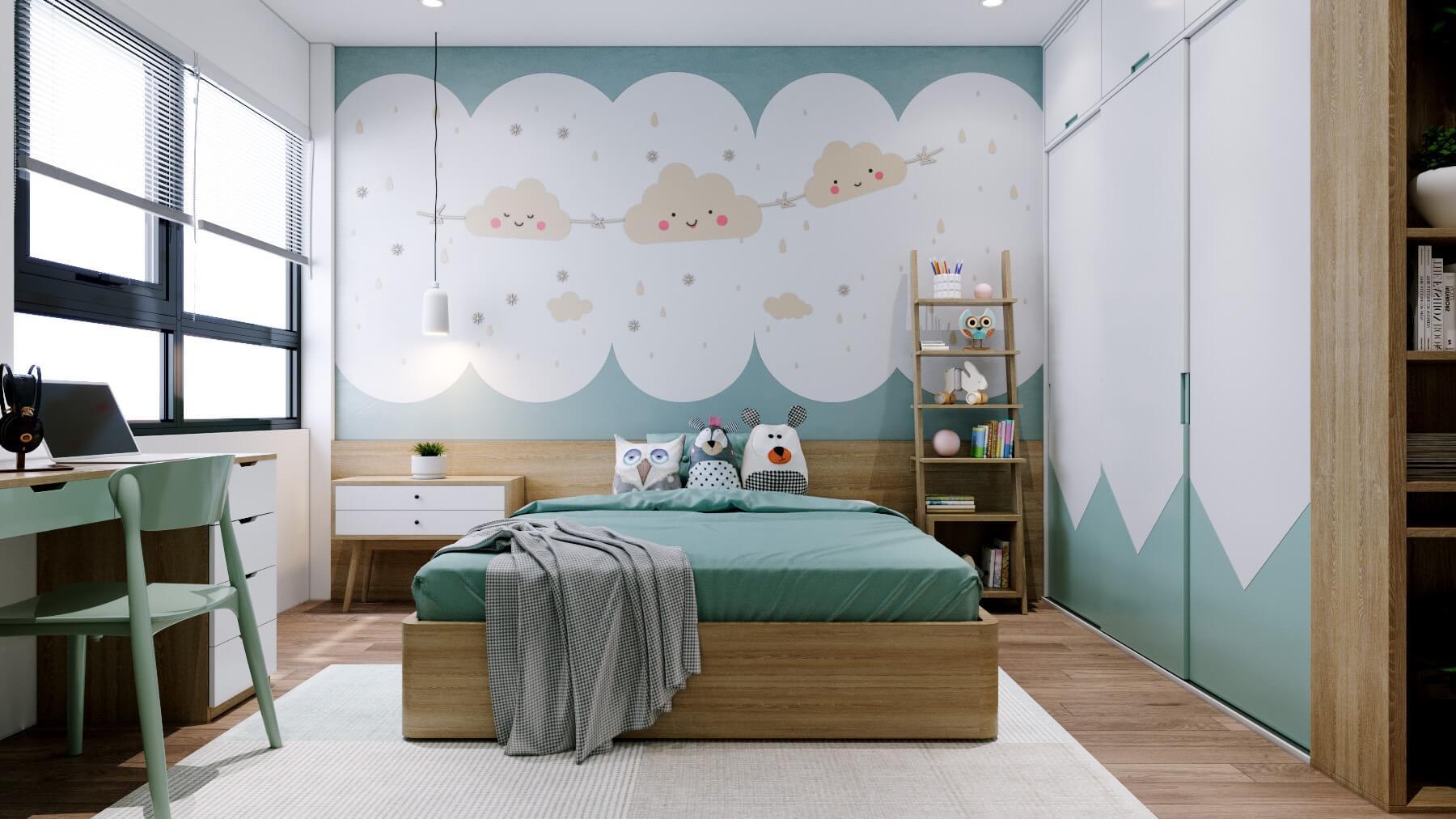 Không gian phòng ngủ cho bé đầy tính trẻ thơ