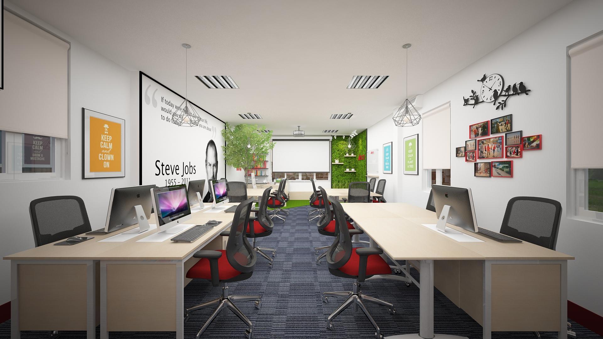 Không gian năng động của cách thiết kế văn phòng này
