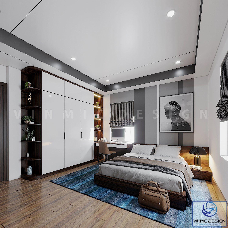 Các đồ trang trí, bức tranh, tạo nên một không gian phòng ngủ đẹp mắt