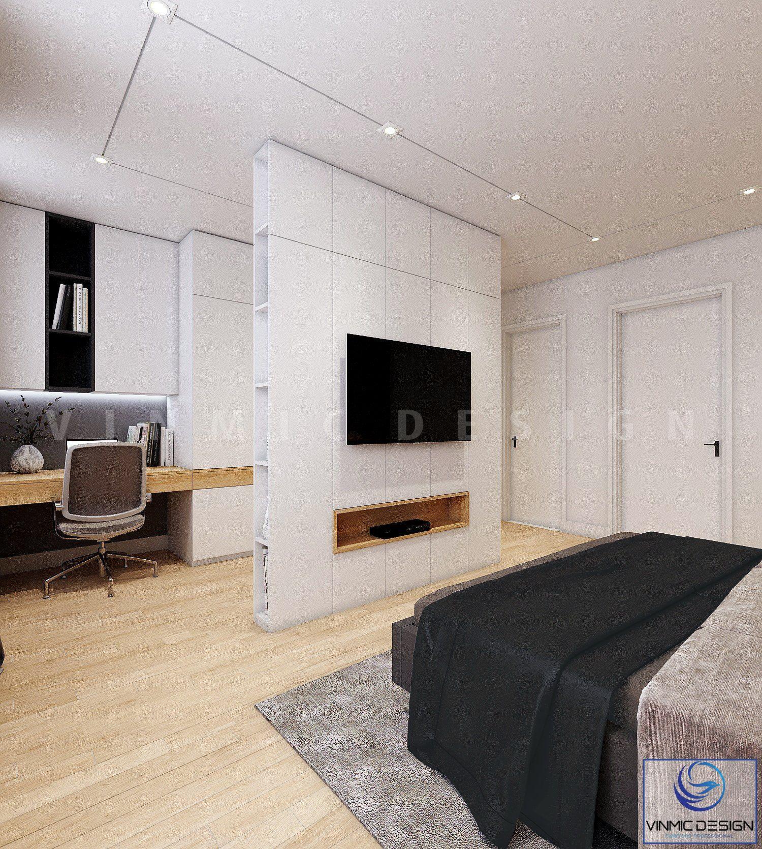 Không gian phòng ngủ được sắp xếp hợp lí